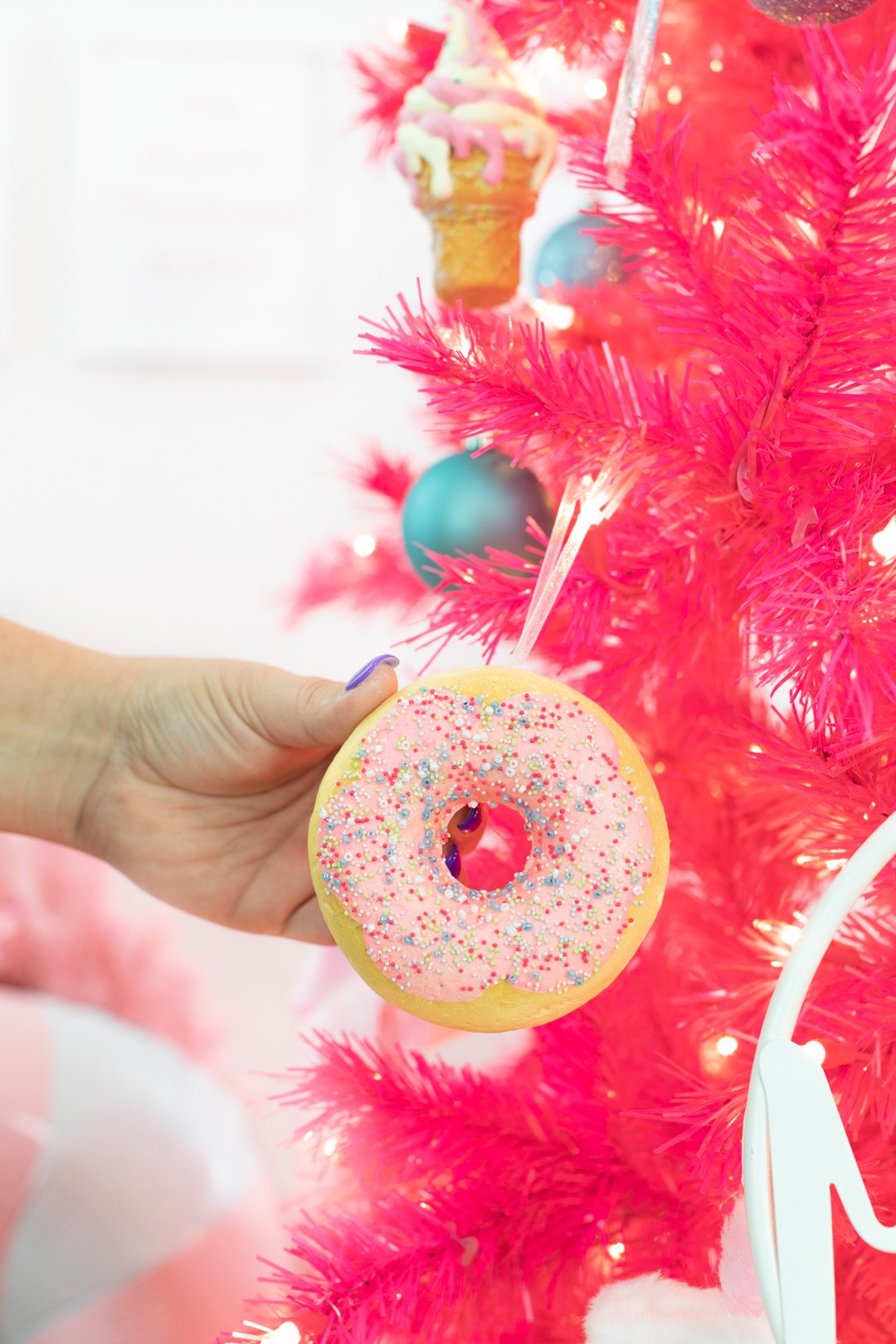 pink donut ornament