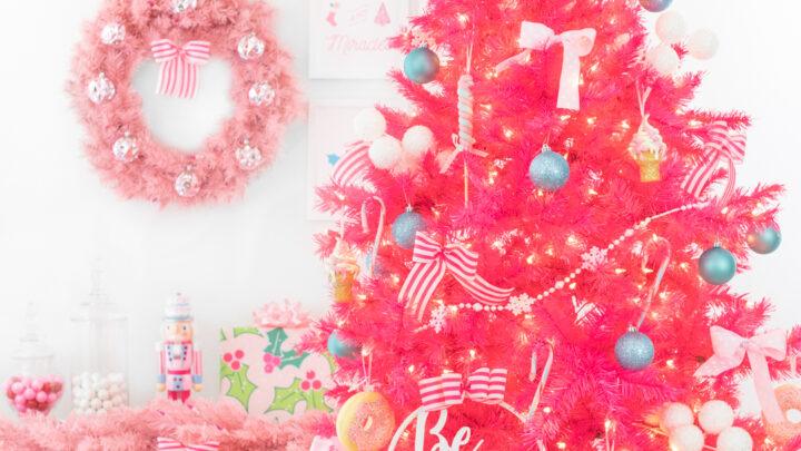 Pretty Pink Christmas Tree Decor