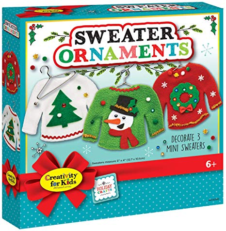 DIY Ugly Sweater Christmas Ornaments Craft