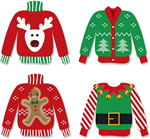 Ugly Sweater Christmas Cut-Outs