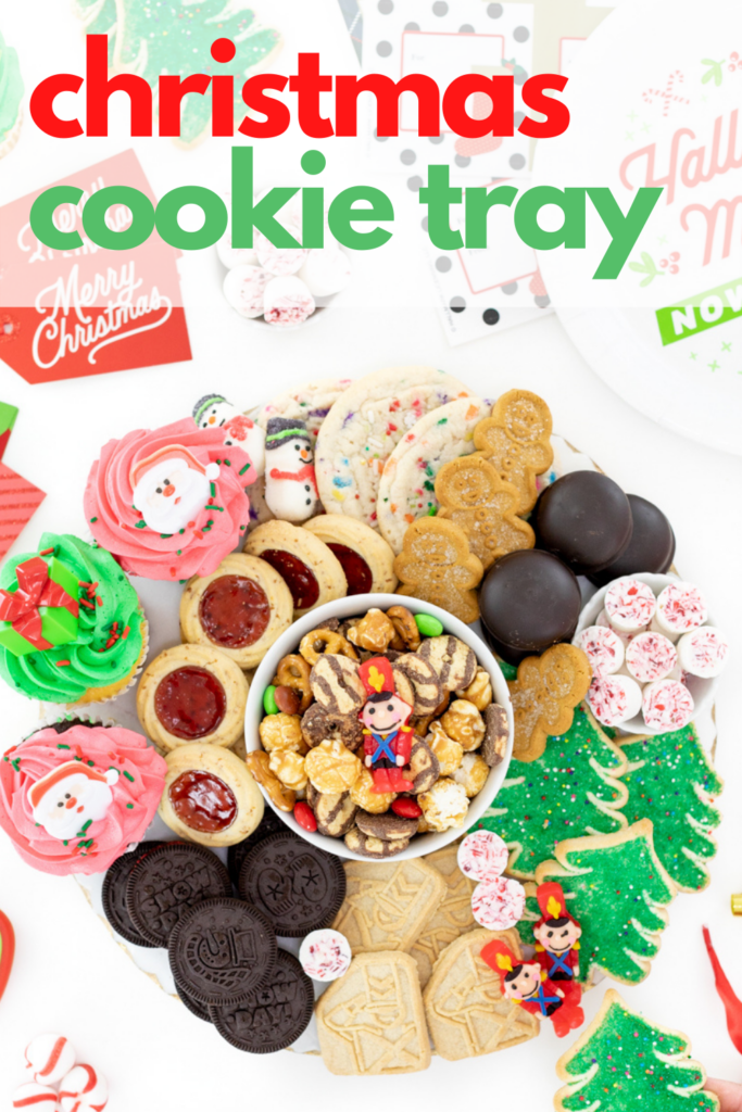 Easy cookie tray with all store-bought cookies for christmas.