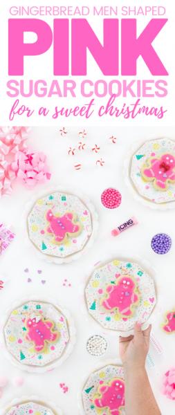 Pink Gingerbread Cookies