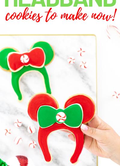 Minnie Mouse Ear Headband Cookies