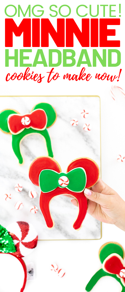 Minnie Mouse Ear Headband Cookies