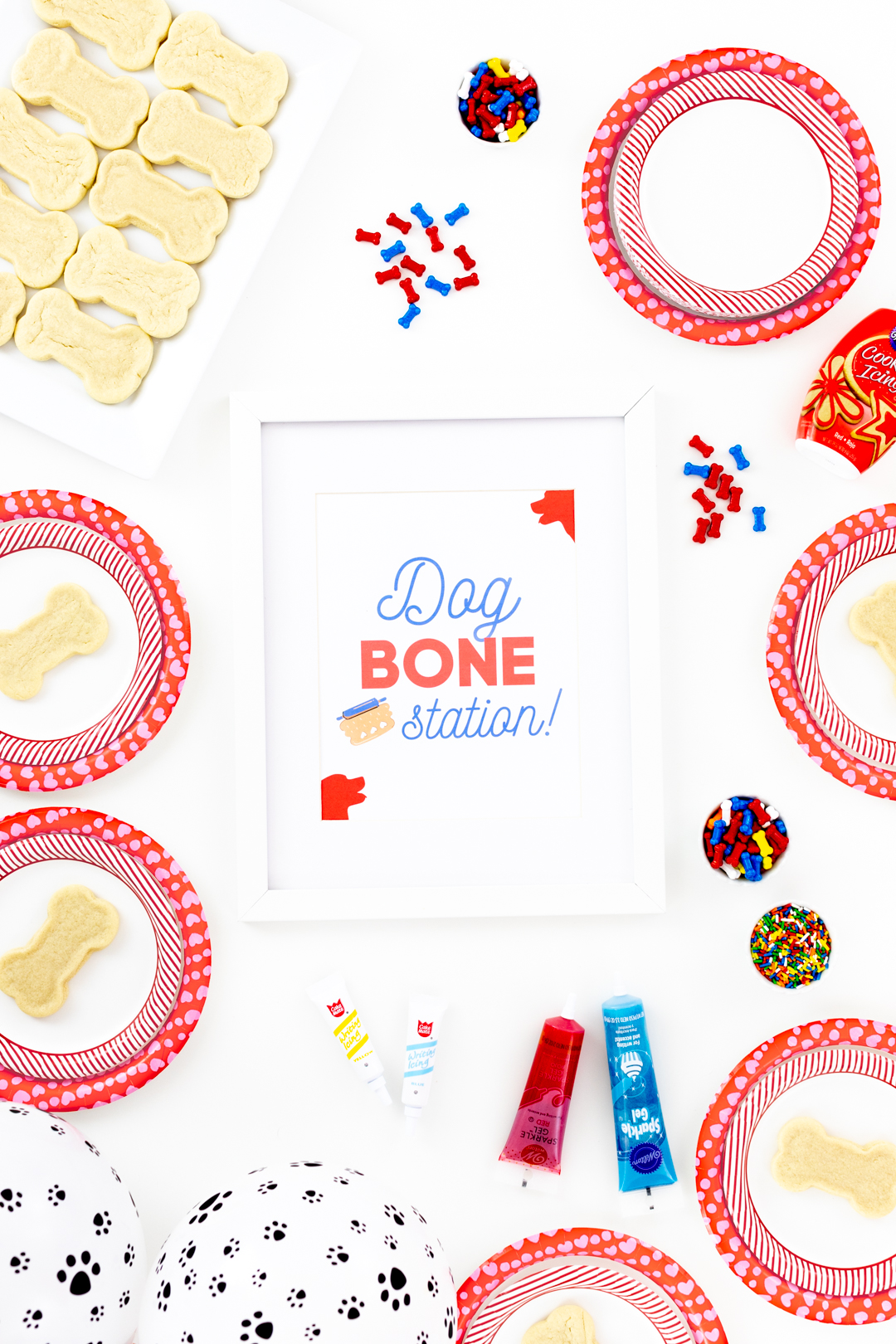dog bone station sign for dog themed parties