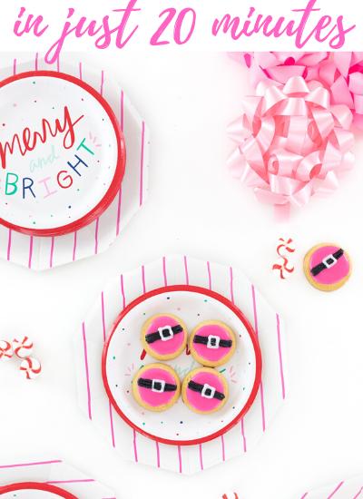 easy santa belt cookies