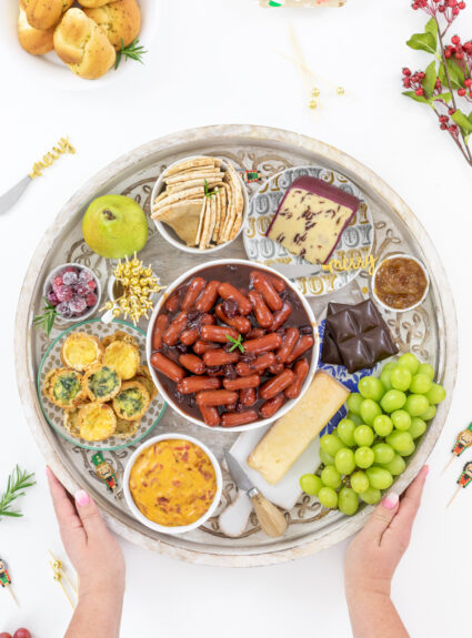 delish spread of hearty style appetizers for holidays