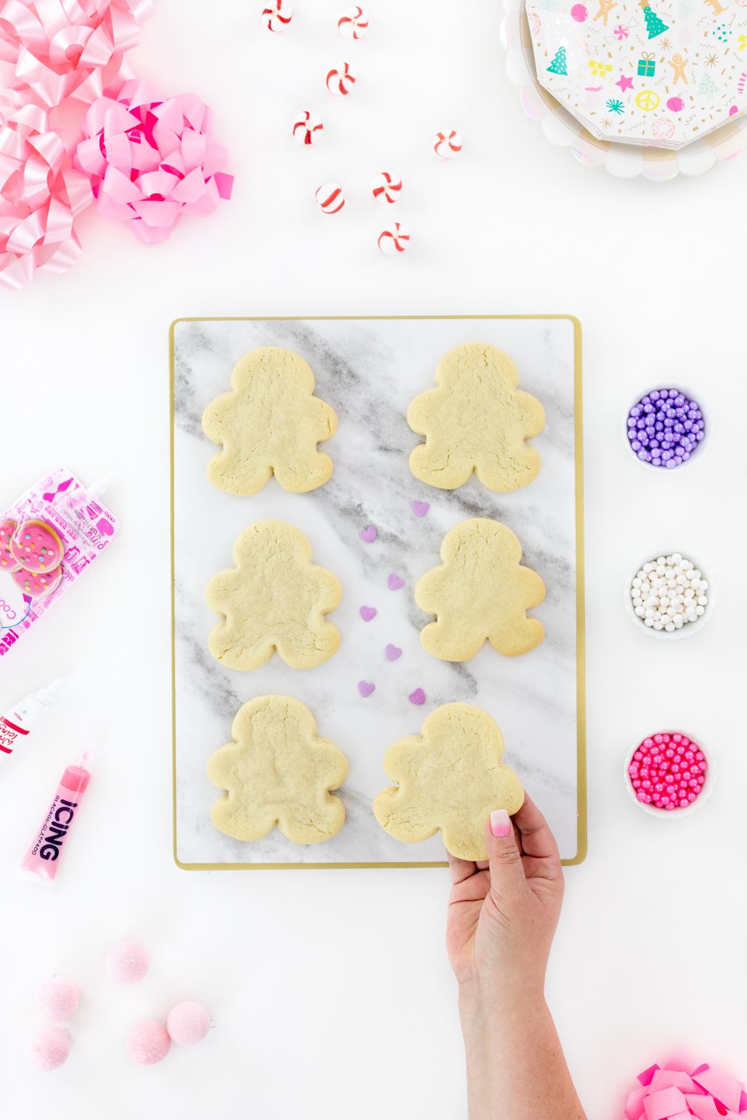 diy gingerbread men shaped sugar cookies