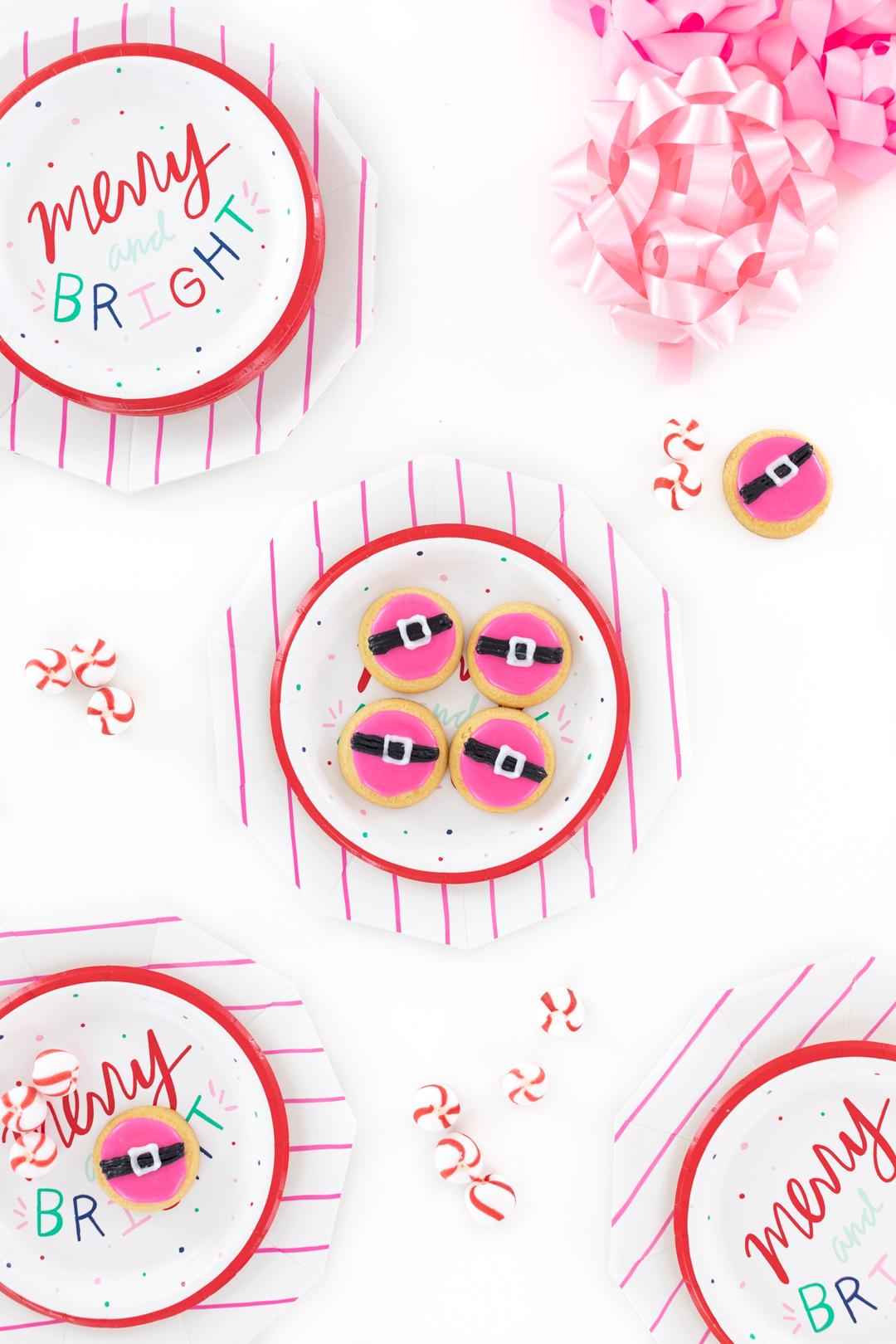 unique pink santa cookies