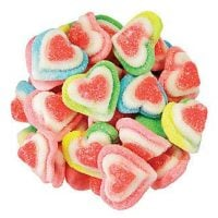 Valentine Rainbow Gummy Triple Hearts