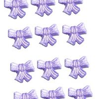Edible Shimmer Purple Bows