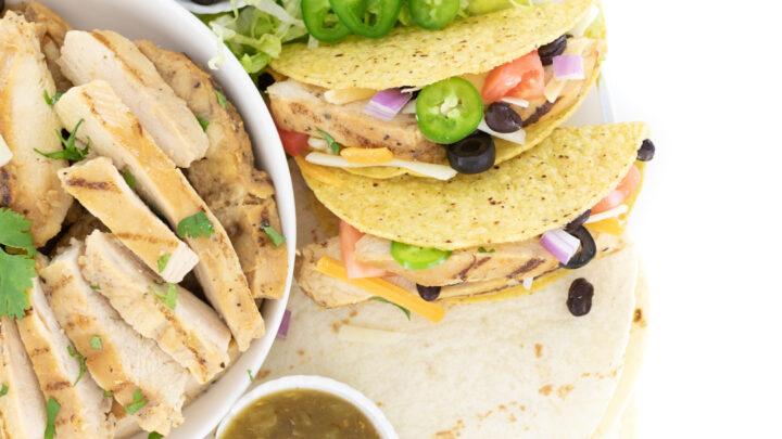 Easy Chicken Taco Board