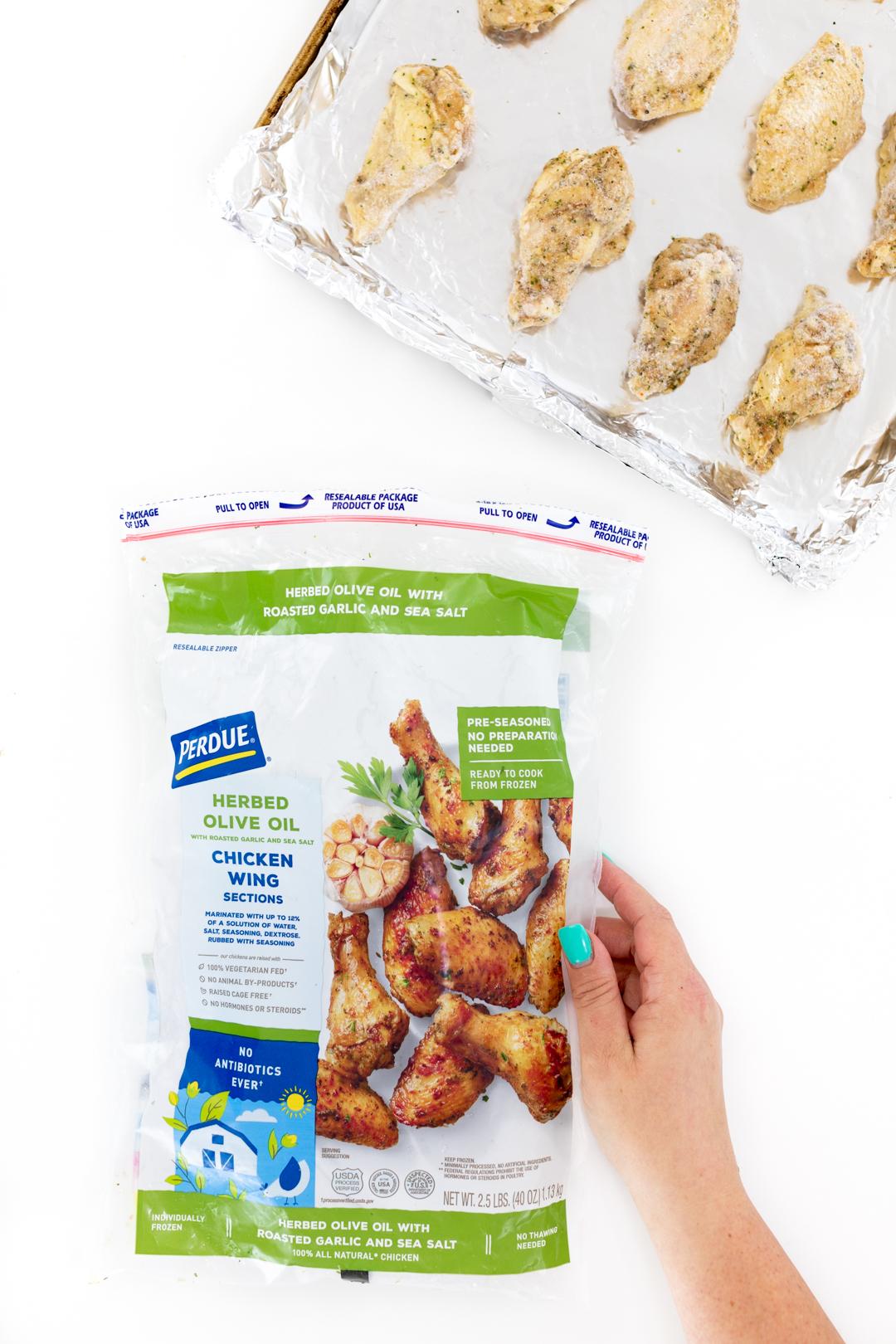 Baking chicken wings on a baking sheet