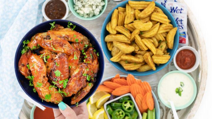 Easy Chicken Wings Board