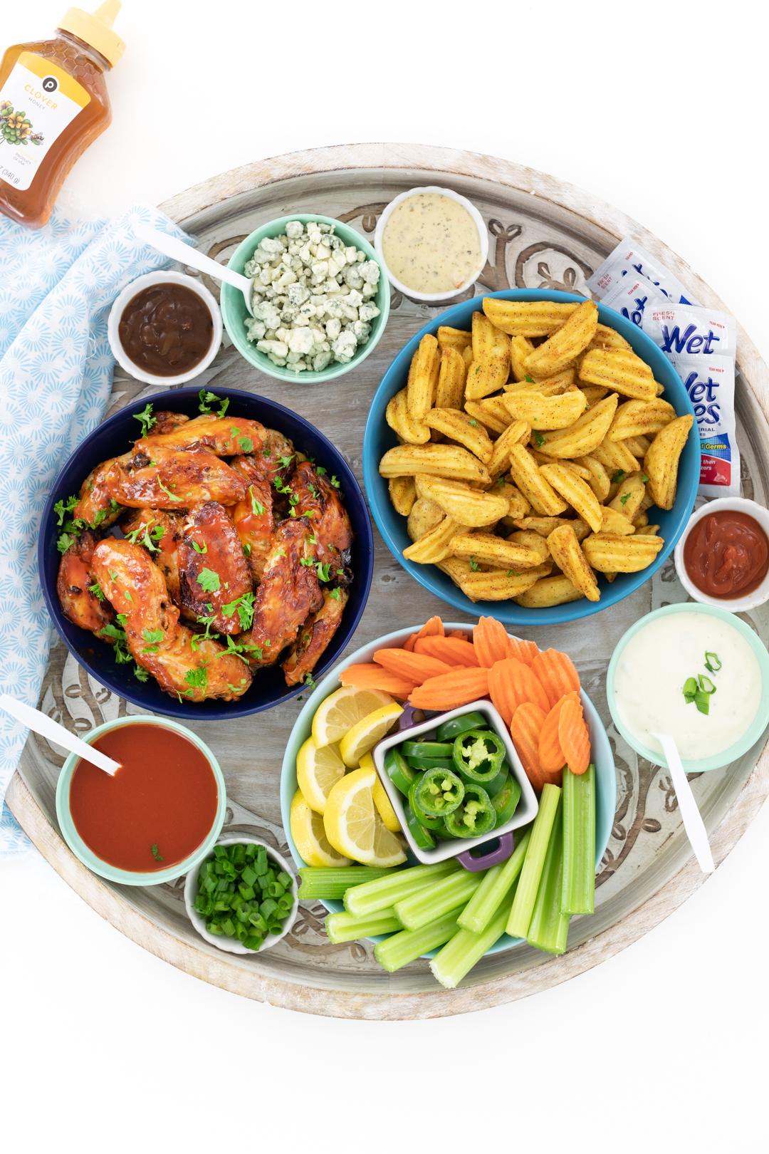 easy chicken wings bar