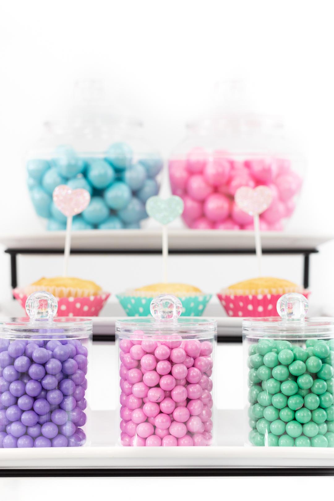 cupcake and candy bar buffet