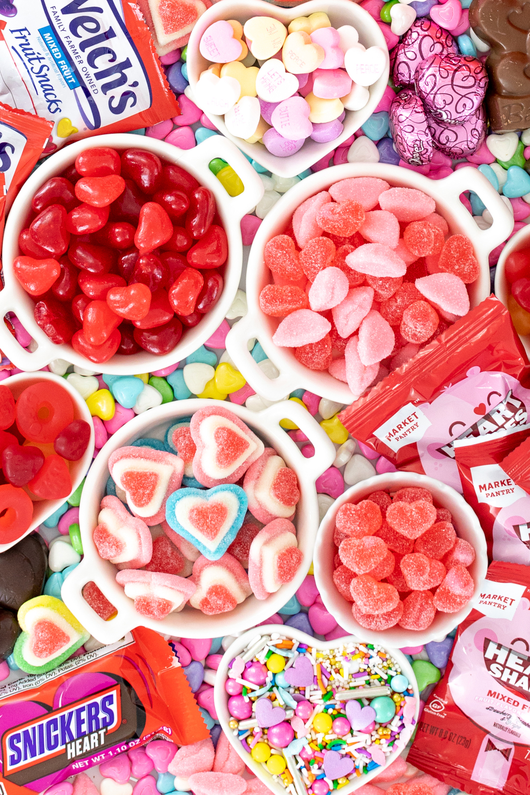 valentine's day candies on a platter