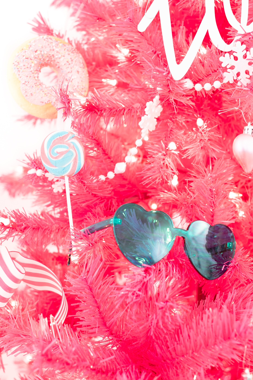 real lollipop made into an ornament