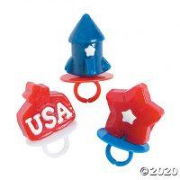 Patriotic Ring Lollipops
