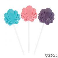 Pastel Seashell Lollipops