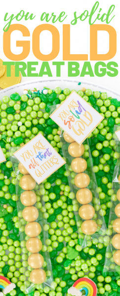 gold treats that are perfect party favors