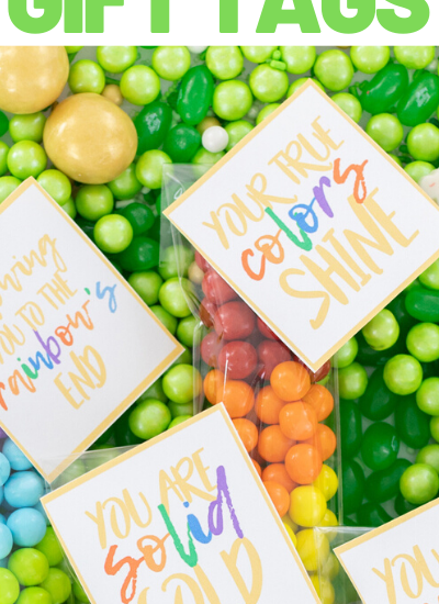 your true colors shine gift tag