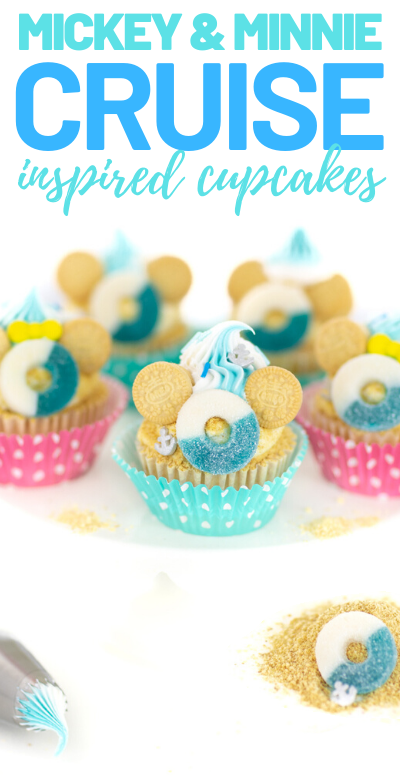 cruise inspired cupcakes