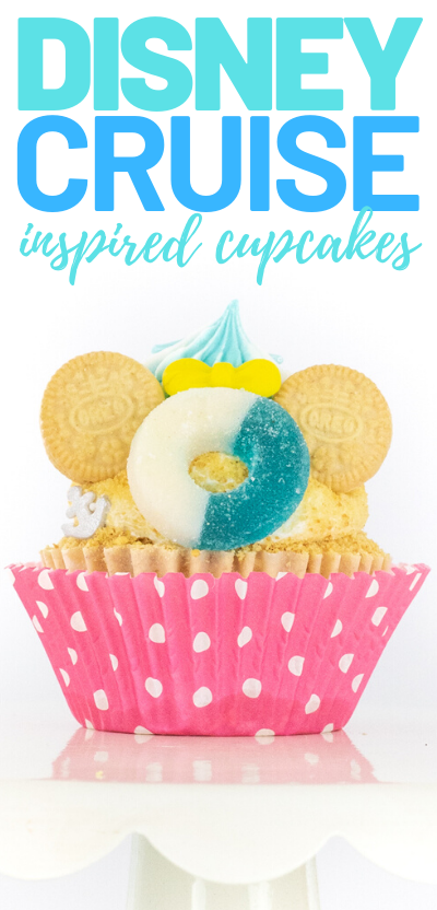 mickey mouse cruise cupcakes