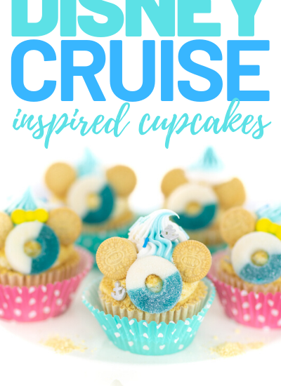 pretty disney beach cupcakes