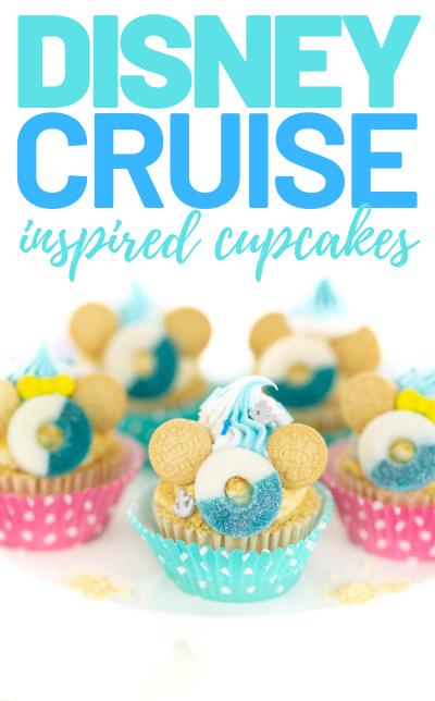 pretty disney beach cupcakes