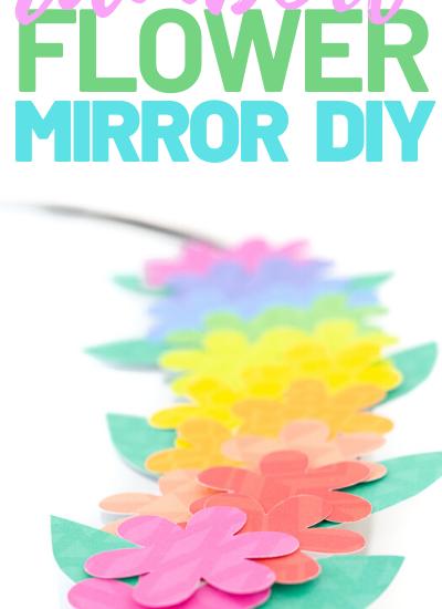 floral mirror diy
