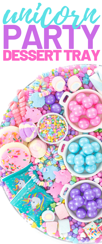 pastel candy tray