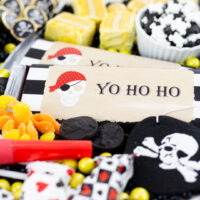 best pirate party candies that are gold black and white