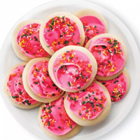 Sugar Cookies With Pink Icing - 10ct - Market Pantry™