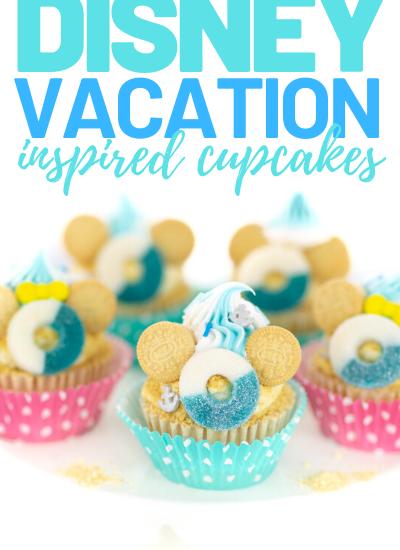 disney vacay cupcakes