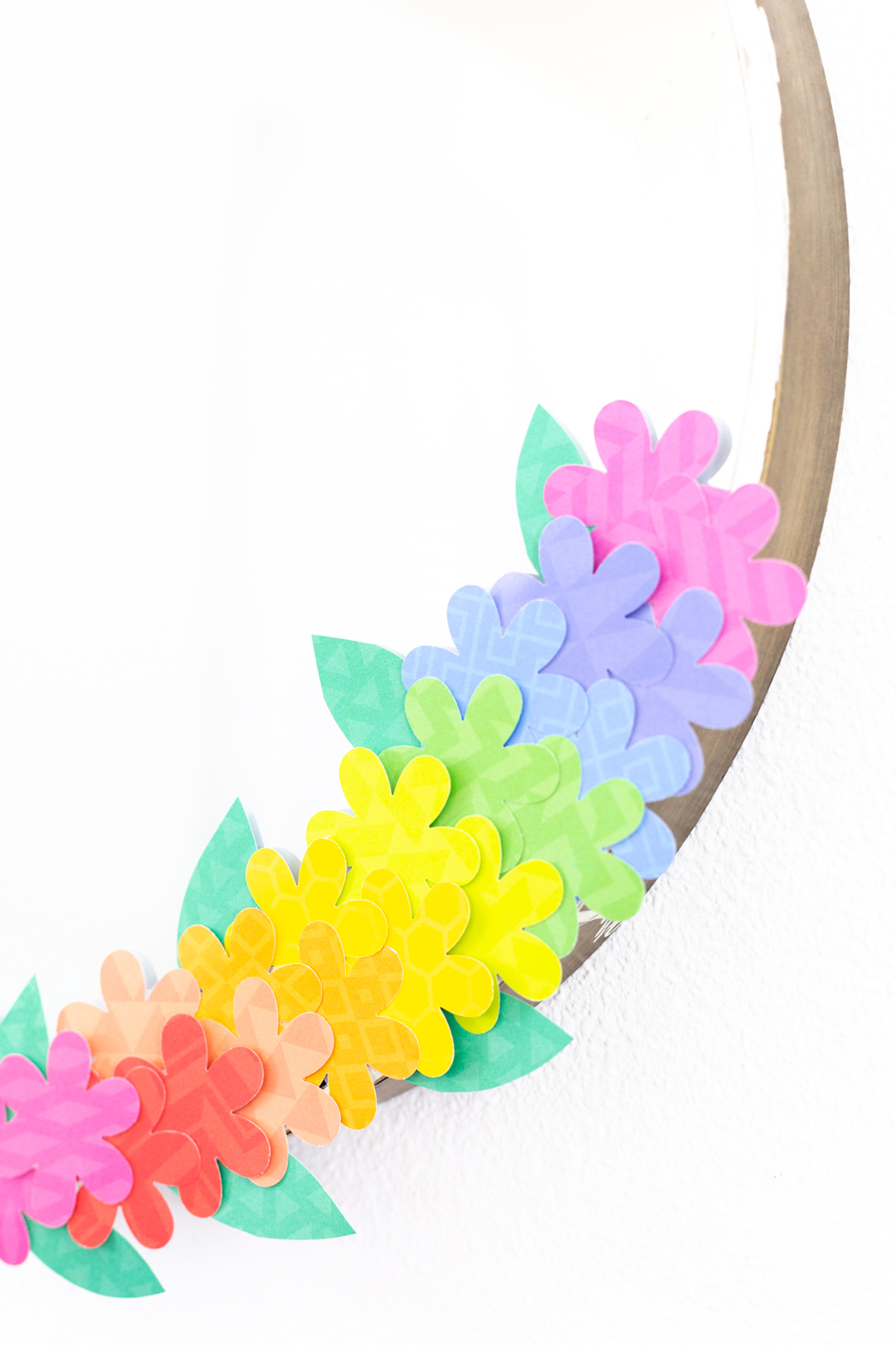 flower decorations made with stencils