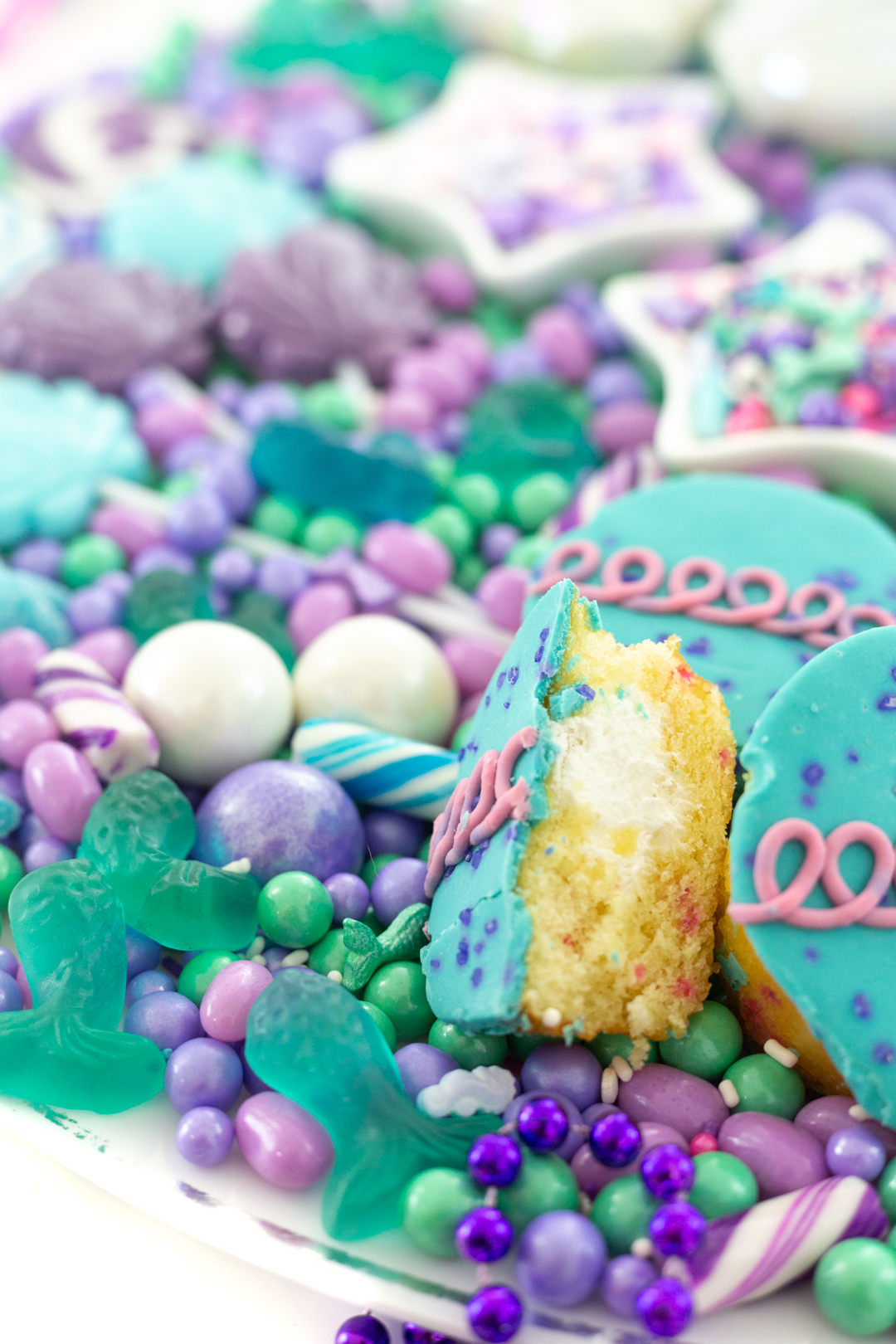 hostess mermaid cupcakes