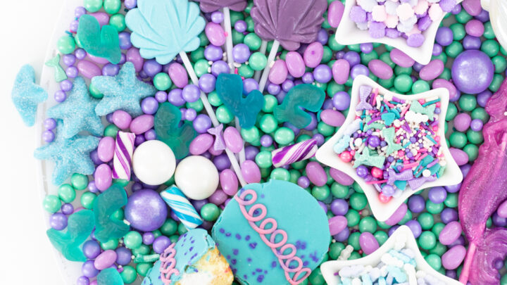 Mermaid Candy Charcuterie Board