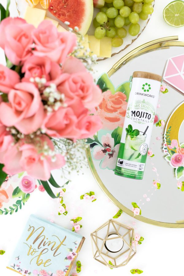 mojito pods and pretty pink roses