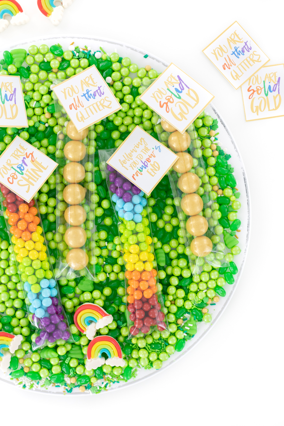 candy favors for rainbow parties