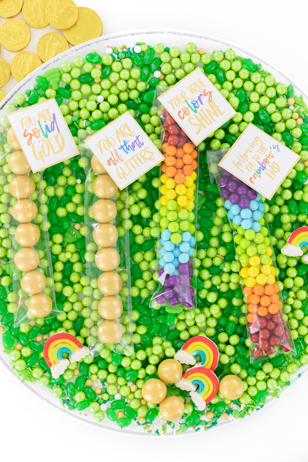 tray of st. patrick's day favors