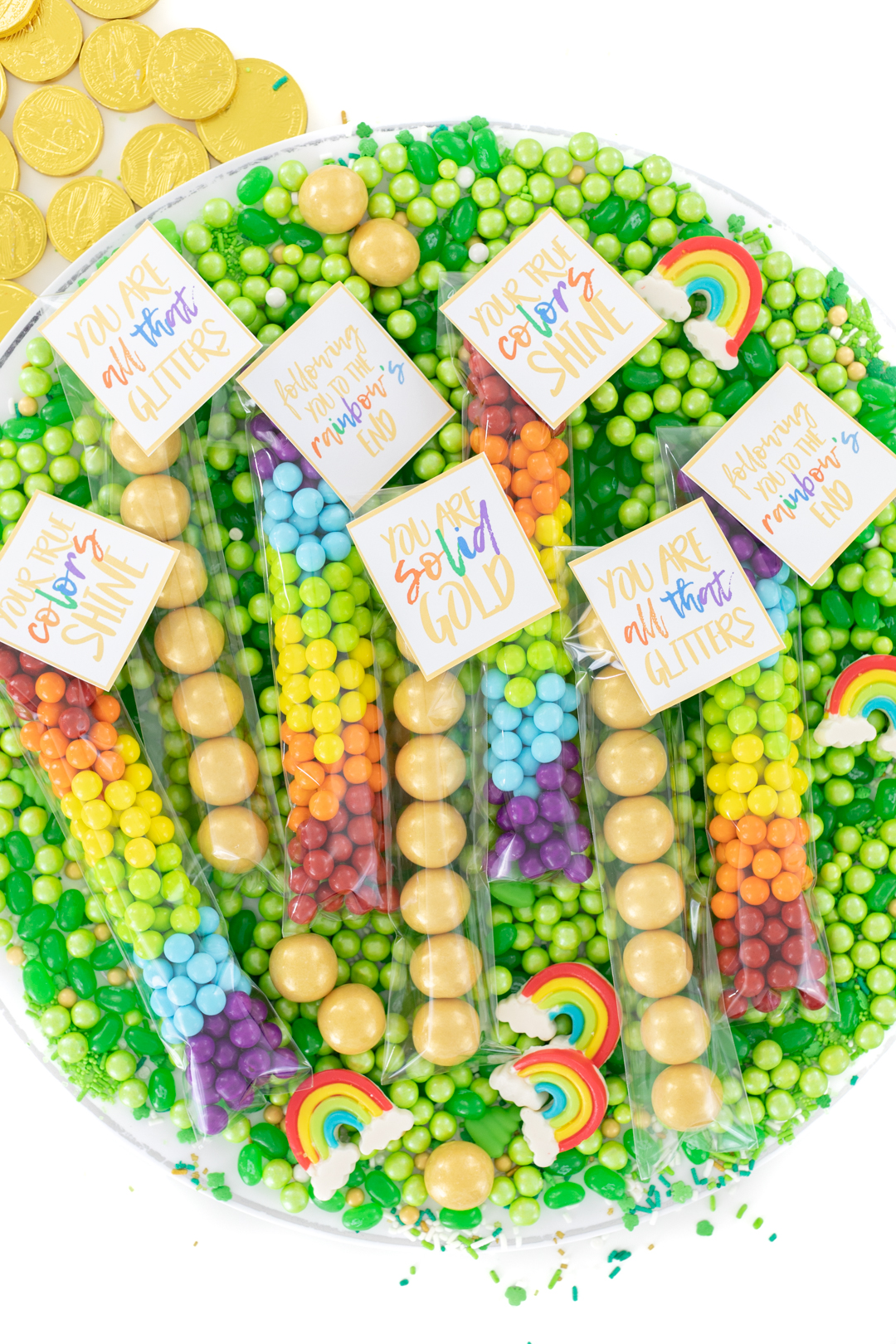 mix of st. patricks' day party favors