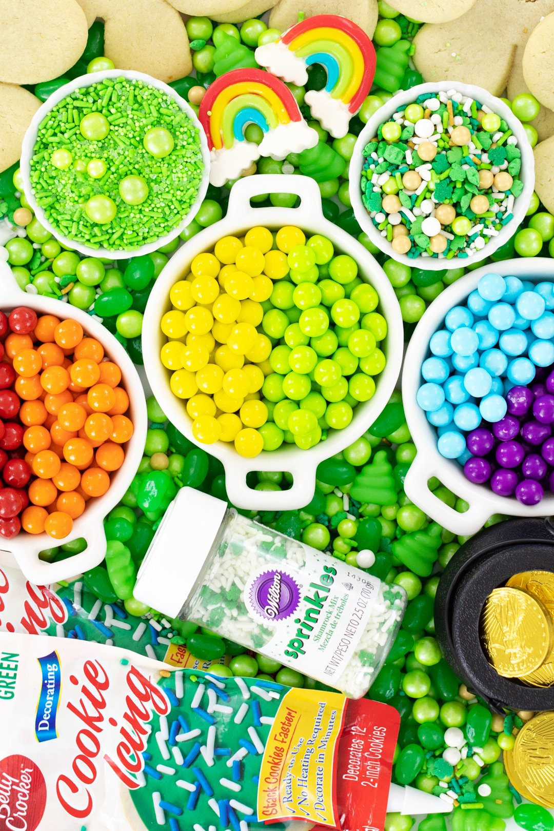 tray of st. patrick's day candy