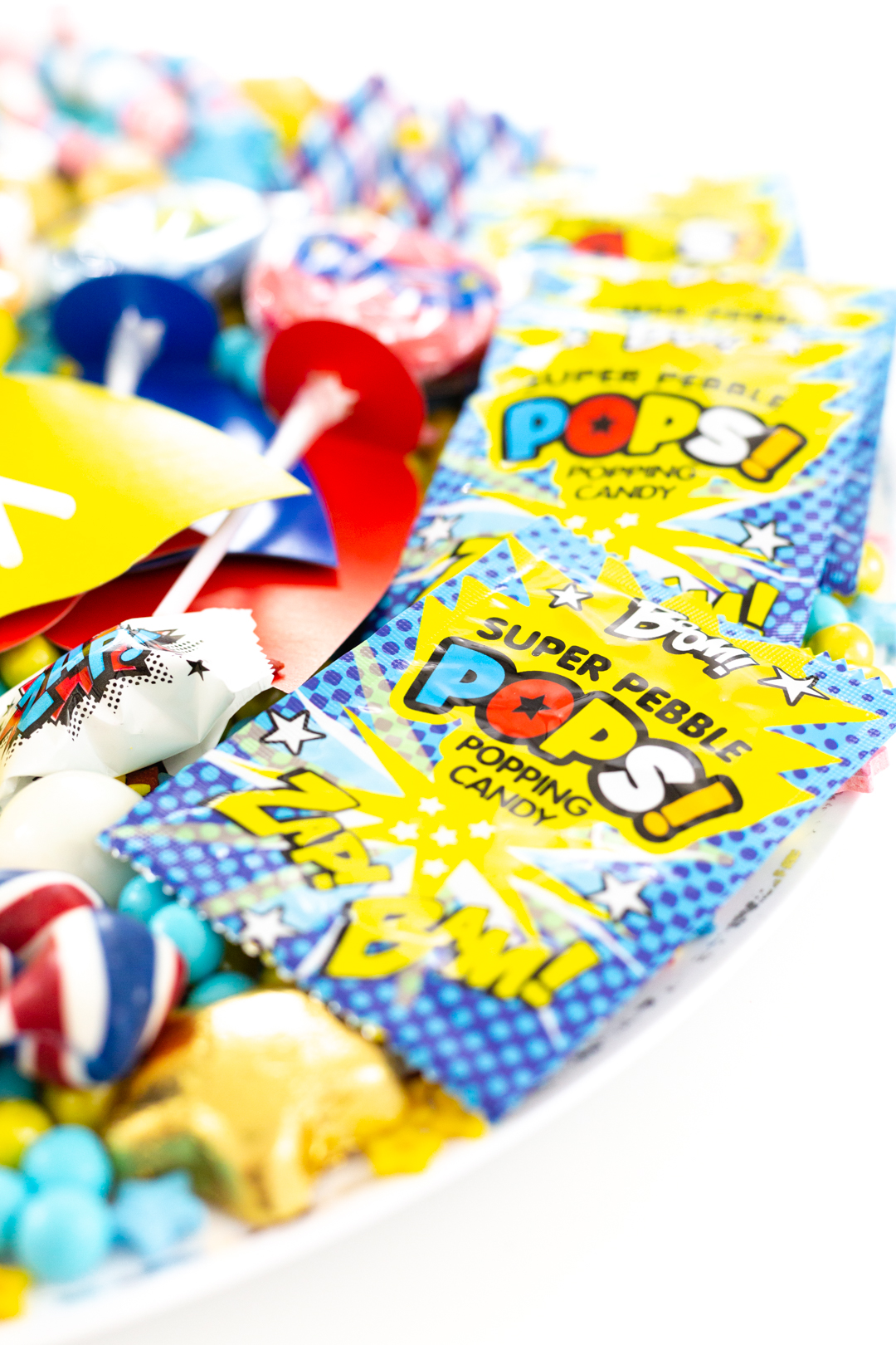 superhero popping candy packets