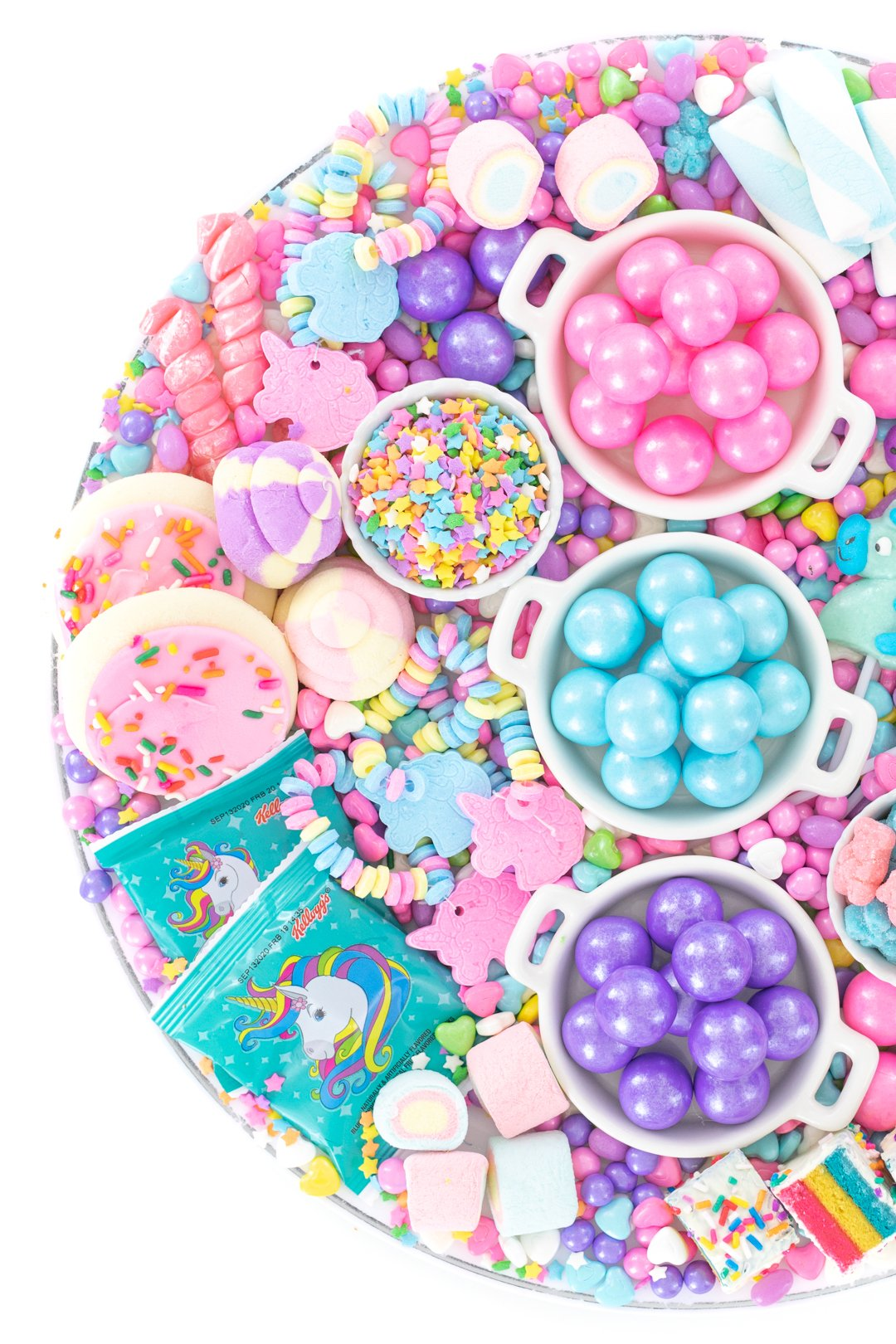 pastel unicorn candies