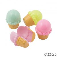 Ice Cream Cone Plastic Easter Eggs - 12 Pc.