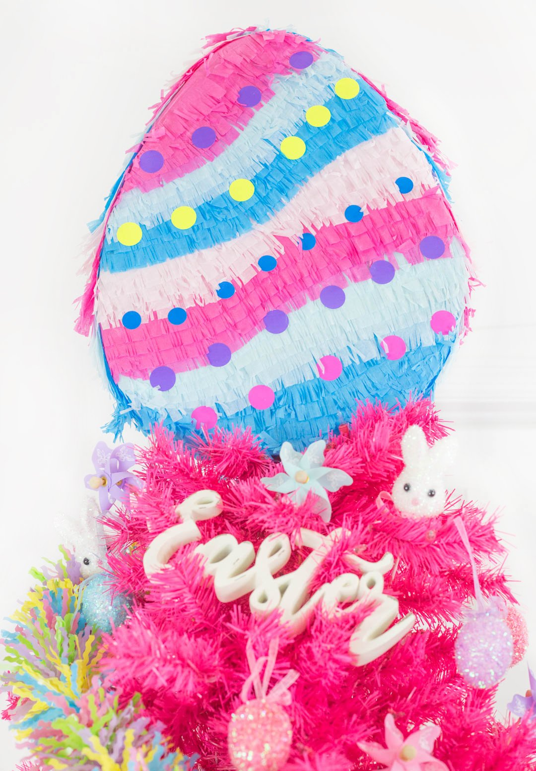 easter egg pinata used for an easter tree topper