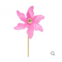 Pink Butterfly Pinwheel Pick