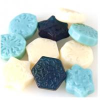 Gummi Snowflurries White Blue Candy