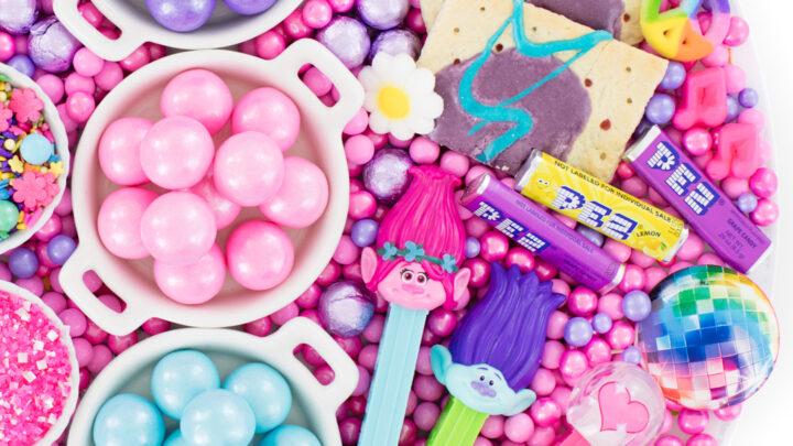 Trolls Movie Candy Board